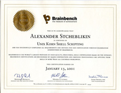 Unix Korn Shell Scripting - Master (BrainBench)